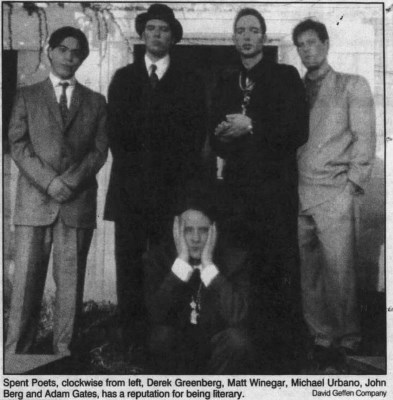 The Spent Poets Band Photo Newspaper Clipping
